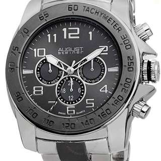August Steiner Men's Silver Watch. Original price tag is $445