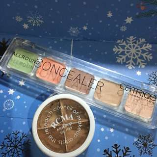 RCMA 4 PART KIT AND CATRICE ALL AROUND CONCEALER BUNDLE