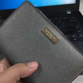 AUTHENTIC KATE SPADE WALLET - Kate Spade Cara Newbury Lane Leather Small Wallet in Anthracite Silver