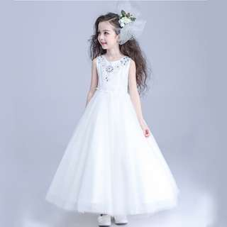 Pretty Flower Girl Histrionics Wedding Pageant Formal Long Dress