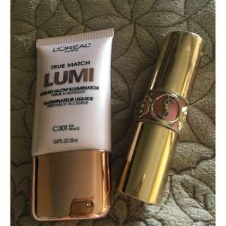 (REPRICED) YSL Lipstick with free Loreal illuminator