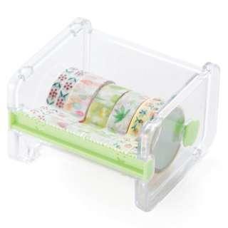 Masking Tape Washi Tape Storage Cutter Organizer (Transparent)