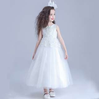 Luxury Flower Girl Histrionics Wedding Pageant Formal Long Dress