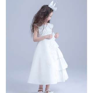 Elegant Flower Girl Histrionics Wedding Pageant Formal Long Dress