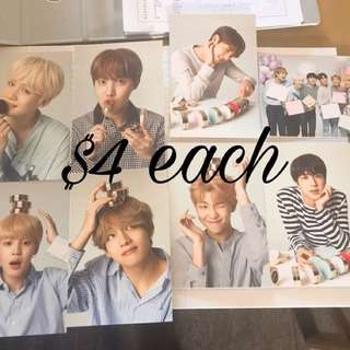 BTS x VT Official postcards