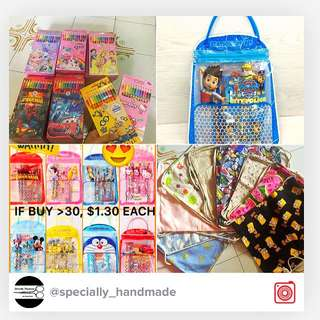 Goodie Bag/ Party Supplies/ Stationery Set/ Sticker/ crayon/ toy set/ balloon