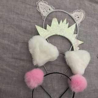 Festival headbands - fluffy / cat / ears