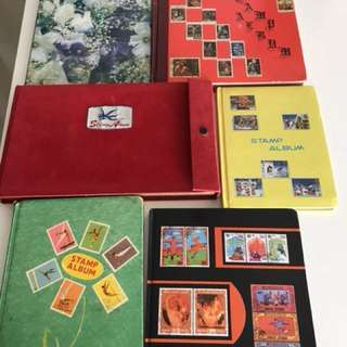 6 books of stamps collection(0ver 40years)