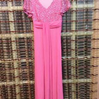 Pink Long gown one time used! For Sale!