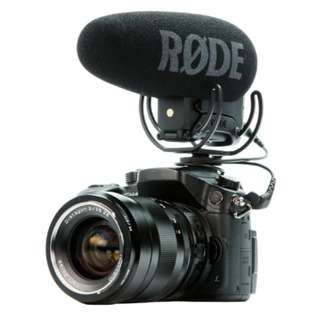 Rode VideoMic Pro+ Compact Directional On-camera Microphone (with Rycote Lyre Suspension Mount)