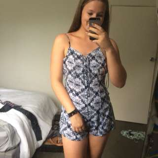 Miss Mango blue patterned play suit