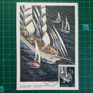 1984 加拿大 加拿大命名紀念 郵票原圖明信片