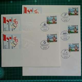 1976 加拿大 蒙特利爾奧運會 首日封 紀念套摺