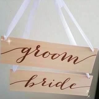 *New* Bride and Groom - Signage for Wedding Deco or Photoshoot