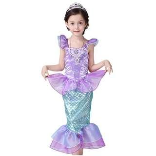 Children Dress Cosplay Halloween Mermaid 3-12y