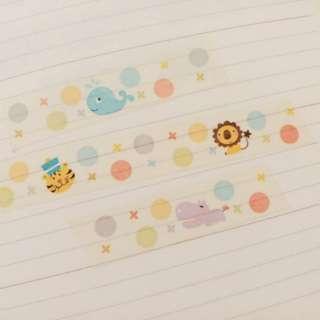 🚚 Celia 。 風中小舖 紙膠帶分裝 七彩泡泡 動物