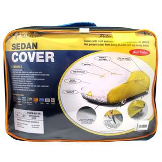 Deflector DCCB-S2-YS Sedan Car Cover (Yellow/Silver)