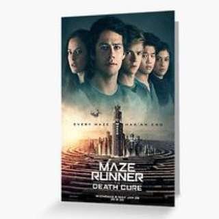 Maze Runner Postcard Set Movie Premium (The Death Cure)