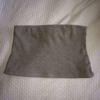 Grey bandeau top