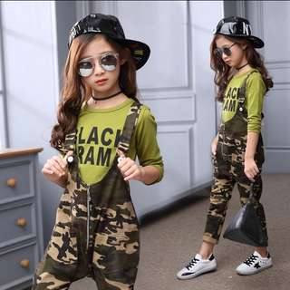 Brand New Army Girls' Jumpsuit(2pcs)