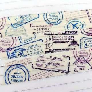 🚚 Celia 。 風中小舖 紙膠帶分裝 旅遊 郵戳