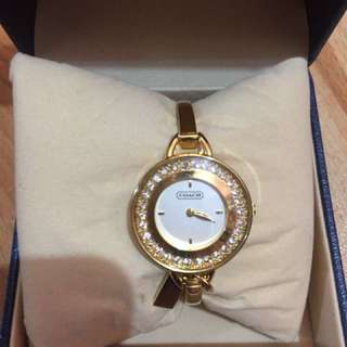 Authentic Coach Bangle type wrist watch