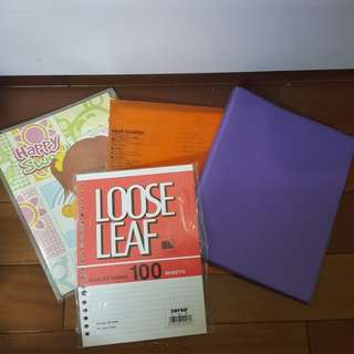 3 binder + looseleaf