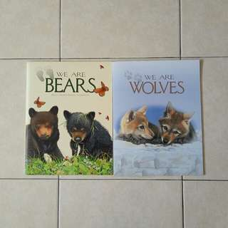 Set Of Two We Are Bears And Wolves 📄 32 book condition 9/10 2 book $6