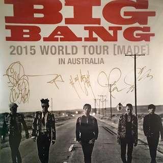 Bigbang autograph poster