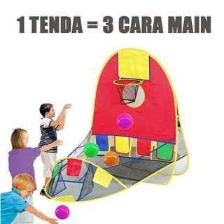 Tenda anak 3in1