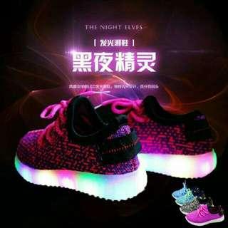 Shoes yeezy clasic led circle lamp purple (21-36)