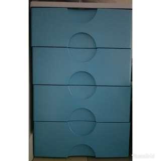 4-layered plastic drawers