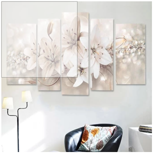 5Pcs Abstract Flower Canvas Print Art Painting