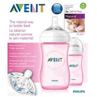 Avent natural 9oz pink