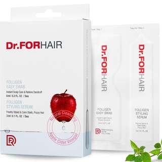Dr.ForHair *NEW* Apple Cider Vinegar Folligen Dry Shampoo Alike Easy Swabs & Styling Serum (6ml + 3ml)*5
