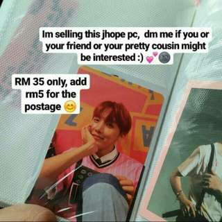 BTS Jhope Photocard LY Her Album