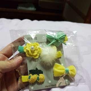 Baby hair clip 5 piece set