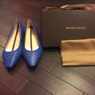 💙BOTTEGA VENETA 100% REAL & NEW FLATS 藍色平底鞋!!!!!!💙