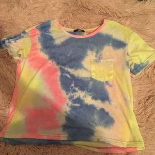 Pastel tie dye t shirt