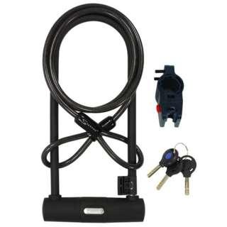 Serfas UL-290C 290mm U-Lock W/ Cable & Bracket