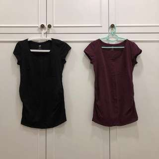 H&M maternity top size S 2 in a set