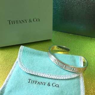 Tiffany 經典純銀 羅馬數字 925 手額 Bangle  9成新!