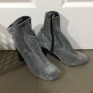 Sparkly sock boots size 8