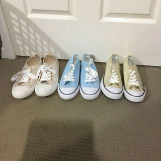 Size 8 canvas shoes - converse lookalike
