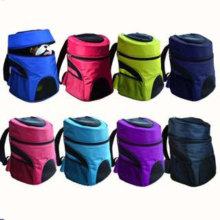 Pet backpack Pet bag Portable Pet Carrier Net Bag Pet Backpack for Dog & Cat Model B