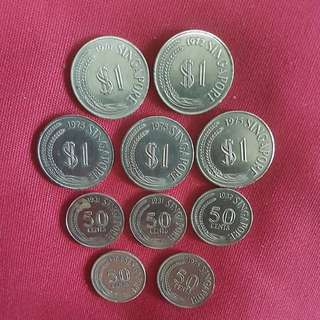 OLD $ 1 & 50 cents