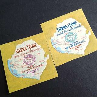 1964 Sierra Leone sticker stamps#2