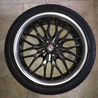 Apex Rim with tires