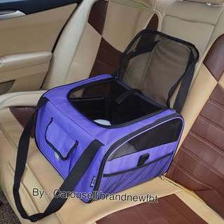 Pet car booster Seat Folding Pet Dog Cat Car Seat Safe Travel Carrier