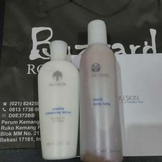 Creamy cleansing lotion & body lufra